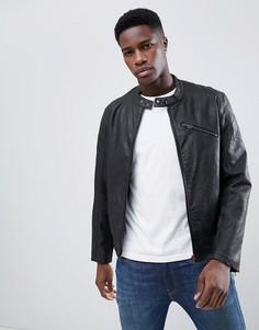 Куртка из искусственной кожи Esprit - Серый