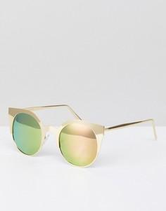 Солнцезащитные очки кошачий глаз с поляризованными стеклами ASOS DESIGN - Золотой