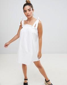 Сарафан с завязками на плечах Fashion Union - Белый