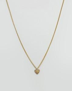 Золотистое ожерелье с подвеской-сердцем Made - Золотой