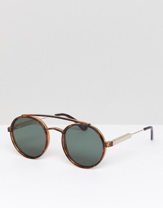 Черепаховые круглые солнцезащитные очки Spitfire - Коричневый