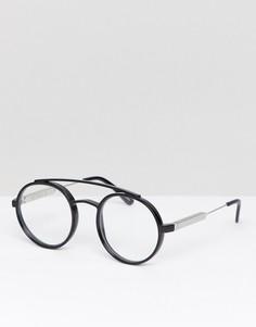 Черные круглые очки с прозрачными стеклами Spitfire - Черный