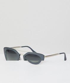 Серые солнцезащитные очки кошачий глаз AJ Morgan - Серый