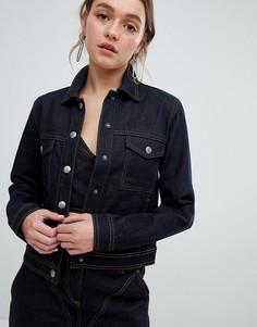 Джинсовая куртка цвета индиго ASOS DESIGN - Синий