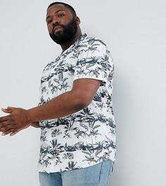 Рубашка с короткими рукавами и принтом Only & Sons PLUS - Белый