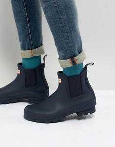 Темно-синие ботинки челси Hunter Original - Темно-синий