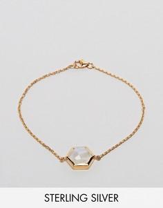 Браслет с полудрагоценным камнем Carrie Elizabeth - Золотой