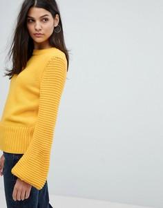 Вязаный джемпер с рукавами клеш Mih Jeans - Желтый