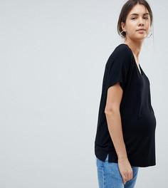 Черная футболка с рукавами летучая мышь ASOS DESIGN Maternity - Черный