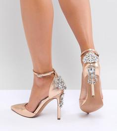 Туфли на высоком каблуке с декоративной отделкой ASOS DESIGN - Золотой