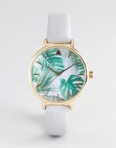 Часы с пальмовым принтом ASOS DESIGN - Серый