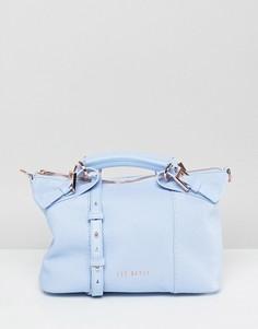Кожаная сумка-тоут Ted Baker - Синий