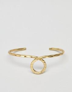 Кованый браслет-манжет ASOS DESIGN - Золотой