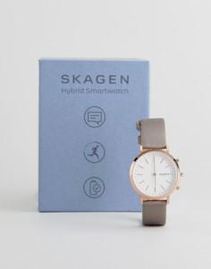 Гибридные смарт-часы цвета розового золота с сетчатым ремешком Skagen Connected SKT1411 Hald - 34 мм - Золотой