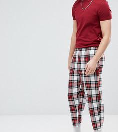 Свободные укороченные брюки в клетку Reclaimed Vintage Inspired - Красный