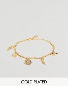 Позолоченный браслет с подвесками Orelia - Золотой