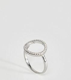 Серебряное кольцо с вырезом и отделкой камнями Kingsley Ryan - Серебряный