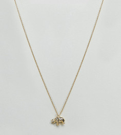 Позолоченное ожерелье с подвеской-слоном Orelia - Золотой