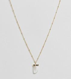 Позолоченное ожерелье с ограненным камнем Orelia - Золотой