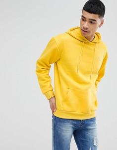 Флисовый худи желтого цвета с вышивкой boohooMAN - Желтый