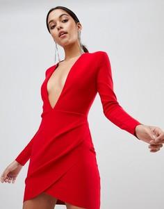 Облегающее платье мини с длинными рукавами Bec & Bridge - Красный