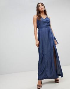 Джинсовое платье макси G-Star - Синий