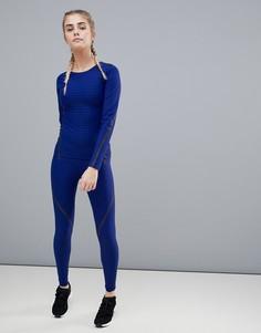 Синие компрессионные леггинсы adidas 360 alphaskin - Синий
