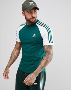 Зеленая футболка с рукавами реглан adidas Originals adicolor California CW1206 - Зеленый