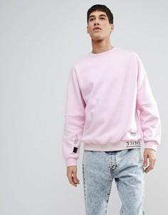 Розовый свитшот с отделкой в рубчик adidas Originals NMD CV5815 - Розовый