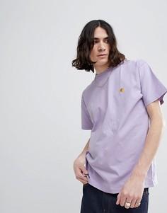 Сиреневая футболка Carhartt WIP Chase эксклюзивно для ASOS - Фиолетовый