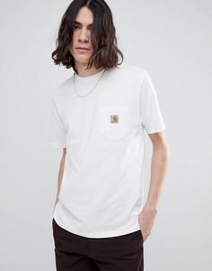 Белая футболка с короткими рукавами и карманом Carhartt WIP - Белый