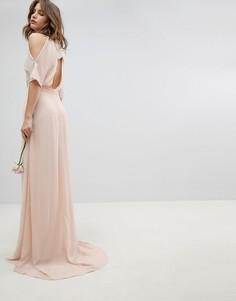 Платье макси с высоким воротом TFNC - Розовый
