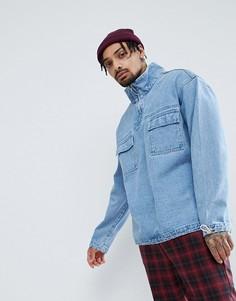 Синяя выбеленная джинсовая куртка ASOS - Синий