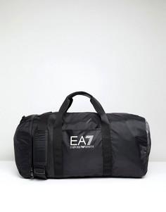 Черная большая спортивная сумка EA7 - Черный