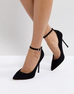 Остроносые туфли на каблуке Faith Chlo - Черный