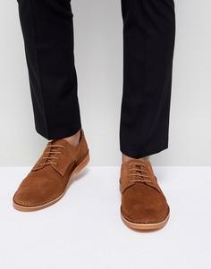 Замшевые туфли дерби Selected Homme - Коричневый