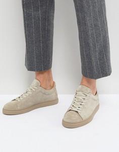 Замшевые кроссовки Selected Homme Premium - Бежевый