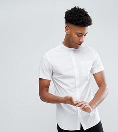 Рубашка с короткими рукавами и воротником на пуговицах Selected Homme TALL - Белый
