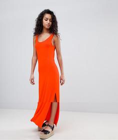 Трикотажное платье макси Vila - Оранжевый