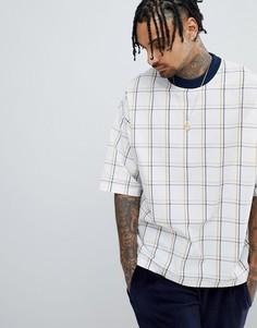 Oversize-футболка с принтом в клетку ASOS DESIGN - Мульти