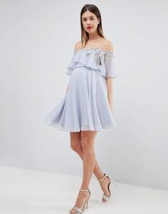 Платье-бандо мини с кроп-топом и отделкой ASOS DESIGN Maternity - Мульти
