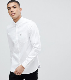 Белая саржевая рубашка Fred Perry - Белый