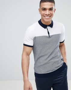 Белая футболка-поло в полоску Burton Menswear - Белый