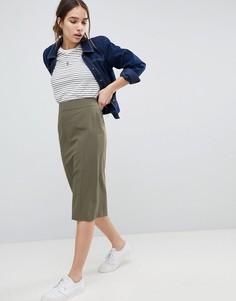 Комбинируемая юбка-карандаш ASOS DESIGN - Зеленый