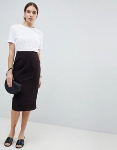 Комбинируемая юбка-карандаш ASOS DESIGN - Черный