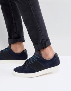 Темно-синие замшевые кроссовки Ted Baker Dannez - Темно-синий