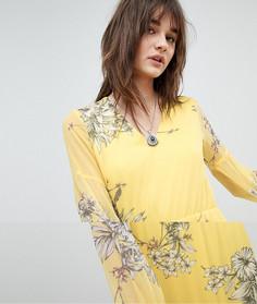 Платье макси с цветочным принтом Vero Moda - Желтый