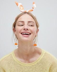 Повязка на голову с принтом фруктов ASOS - Мульти