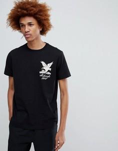 Черная футболка с вышитым орлом Maharishi - Черный