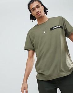 Зеленая футболка из органического хлопка с логотипом Maharishi - Зеленый